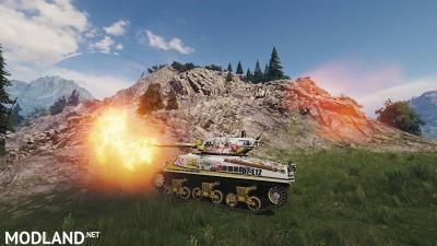 [BCSF] Loza's M4-A2 Sherman [haruru minamo ni!] [Hatagami Mei]스킨 0.0 [1.5.0.4], 2 photo